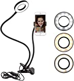 Ring Light Selfie Anello Luce LED Lampada Dimmerabile Cellulare...