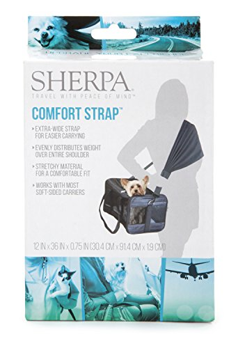 Sherpa Travel Pet Carrier Accessory, Comfort Strap, Black (56014)