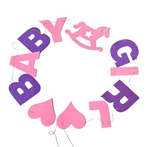 Outflower Baby Girl Banderole Bapteme Décorations de Fêtes d'anniversaire