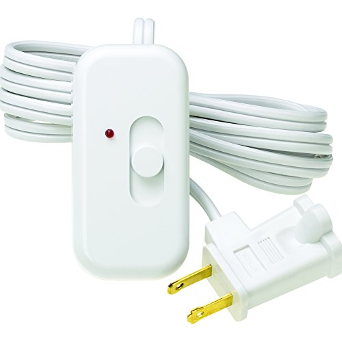 Lutron Credenza Plug-In Dimmer FOR Halogen and Incandescent Bulbs, with Locator Light, TT-300NLH-WH, White