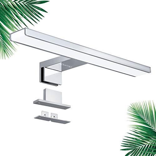 Lámpara de Espejo Baño Dalmo, Lámpara LED de Espejo 30cm, 4000k, 650LM, Luz Baño de 10w Ahorro de Energía, Luz Blanca Neutra a Prueba de Agua IP44