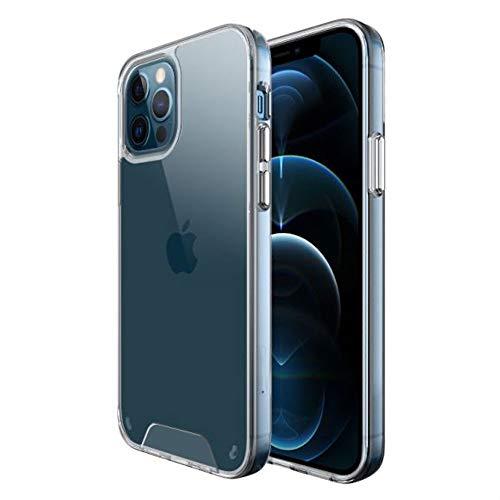 TECHGEAR Funda iPhone 12 Pro MAX - Silicona Transparente TPU Carcasa Protector Resistente a los Golpes Anti-Choque Anti-arañazos [Funda Protectora de la cámara] para iPhone 12 Pro MAX 6,7