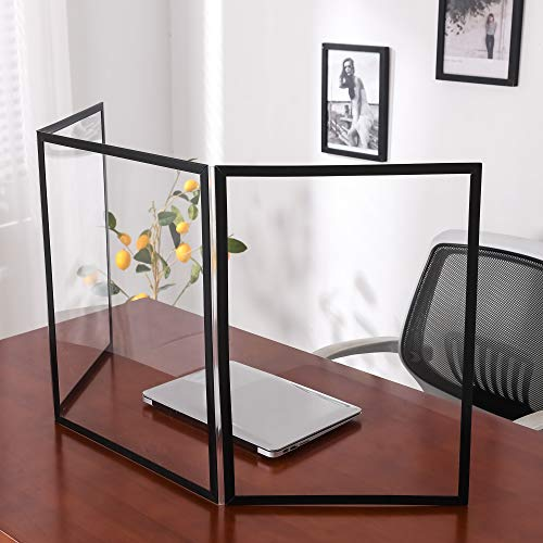 Tokstyle Vikbar och bärbar sneeze Guard Sheild transparent fristående bänkskiva skydd skärm för skola kontor skrivbord matskärmar transaktion fönster försäljningsräknare