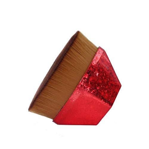 Fondation De Pétale Bb Crème Pinceau Fond De Teint Liquide Rhombique Portable Unique, Poignée Rouge Chinoise