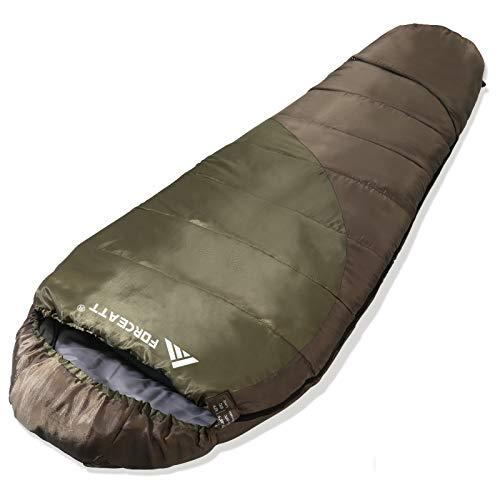 Forceatt Mumienschlafsack (für 1-2 Jahreszeiten), Verwenden Sie den Reiseschlafsack für Erwachsene und Kinder, Leicht und Dünn, Reißfest und Wasserdicht, Geeignet zum Wandern, Camping