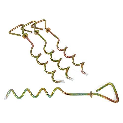 Ampel 24, Lot de 4 Crochets d'ancrage avec rondelle d'arrêt | Longueur XXL: 40 cm | Parfait pour Trampolines, balançoires, toboggans, tentes | kit d'ancrage en Acier