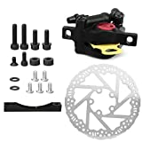 VGEBY Scooter Disc Brake Caliper Set, Disc Brake Conversion Kit Calliper+Adapter+135MM Disc Kit Compatible with Xiaomi M365PRO Electric Scooter