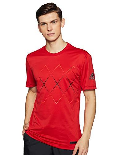 adidas Barricade–Camiseta de, Amarillo/Negro, S, Todo el año, Hombre, Color Scarle, tamaño XX-Large