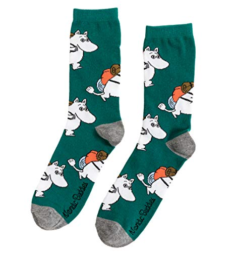 Nordic Buddies Mens Moomintroll Adventuring Moomin Socks