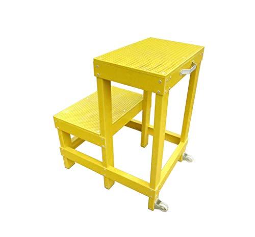 HJHLDT LYX® Isolatie Kruk, Elektriciteit Geel Multifunctionele Kruk Hoge En Lage Kruk, Tweede Verdieping Platform Stap Kruk 80x30x60cm