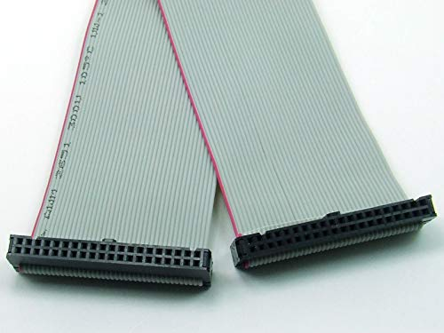 POPESQ® - IDC Kabel/Cable 40 polig (2X 20) cca. 30 cm / 0.3 m lang/Long, Flachbandkabel Ribbon, Raspberry Pi #A893