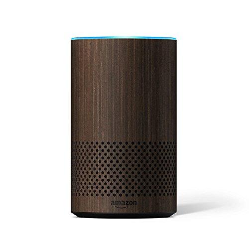 Amazon - Étui décoratif pour Echo - compatible uniquement avec Amazon Echo 2ème génération, finition noyer