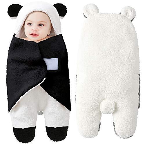 Rehomy Neugeborenes Baby Schlafsack Warm Fleece Atmungsaktiv Wickeldecke Wickeldecke für Baby Jungen und Mädchen