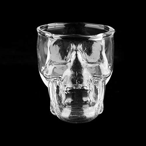 Vaso de chupito con Cabeza de Calavera Transparente para Vodka, Whisky, Vino,...