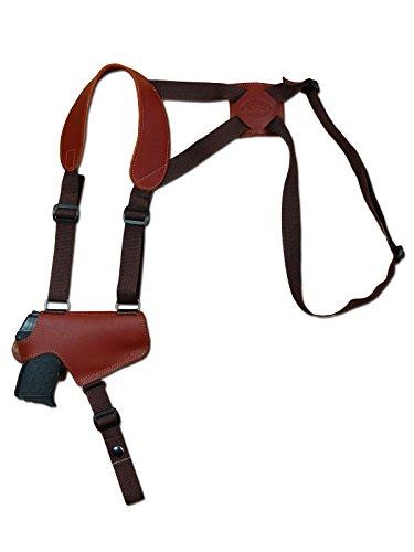 Barsony New Burgundy Leather Thumb Break Gun Shoulder Holster for Walther PP PPKS PPK Right