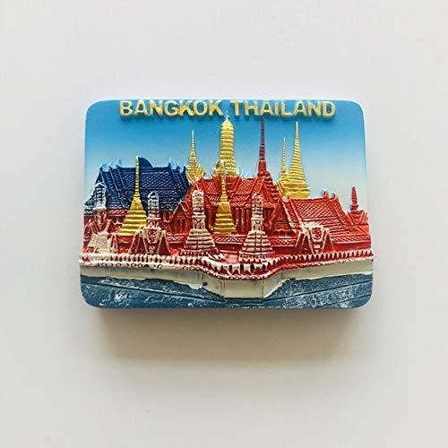 Pegatina para Nevera 3D estéreo Bangkok Phuket Templo del Buda de Jade Gran Palacio Recuerdo turístico imán para Nevera