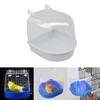 Lifemaison Baignoire pour Perroquet, Baignoire d'eau pour Oiseaux, 1 Pièces Petite Taille pour Cages à Oiseaux, Baignoire Suspendue à Oiseaux, Bain d'oiseaux