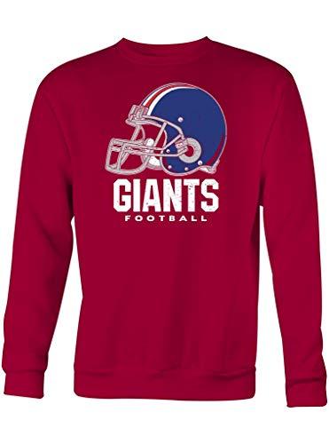 Shirt Happenz Giants American Football New York Any Given Sunday Super Bowl Sweatshirt Pullover Pulli, Größe:XXL, Farbe:Dunkelrot