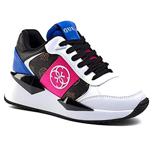 GUESS Scrape Donna Sneaker Tessa Running Brown Multicolor