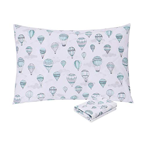 EMME Cotton Toddler Pillowcases Hypoallergenic Kids Pillowcase Fits Pillows Sized 13x18 inch, Baby Pillow Cover Soft Pillowslip Case Envelope Closure Children Pillow Cases, Best Kids Gift (1 Pack)