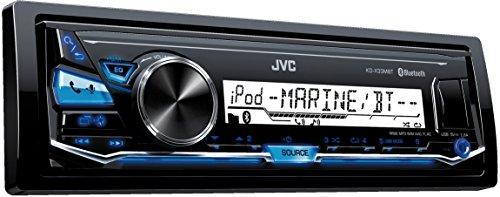 JVC KD-X33MBT Digital Media-Receiver für maritimen Einsatz (Bluetooth-Technologie, Front-USB/AUX- Eingang) schwarz