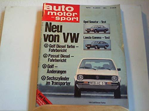 Auto motor und Sport. Heft 15, 19. Juli 1978.