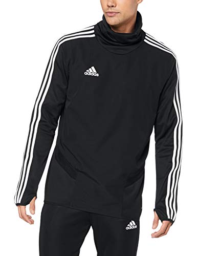 adidas Herren TIRO19 WRM TOP Sweatshirt, Black/White, L