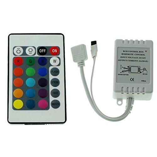 ALED LIGHT LED RGB Strip IR Remote Controller Fernbedienung Kontroller Steuerung für 3528 5050 IP 65 LED Streifen Licht IR RF Controller Steuerung Fernbedienung Touch-Funktion LED RGB Strip DC12V (24 key)