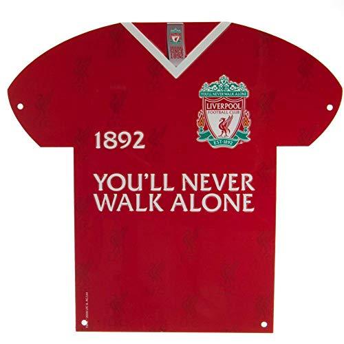 Liverpool FC YNWA - Targhetta a forma di maglietta (Taglia unica) (Rosso)