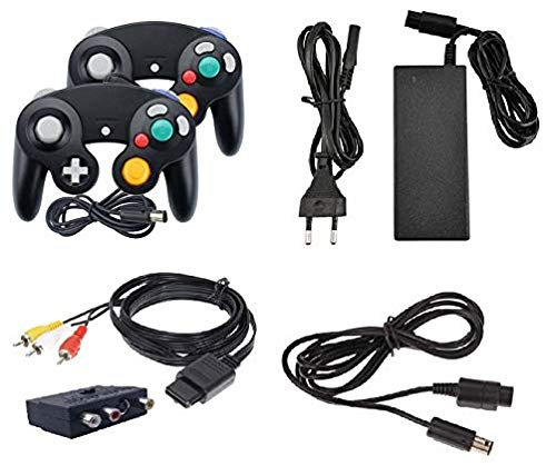 Kit d'accessoires pour Nintendo Game Cube Câble Contrôleur GC Câble d'alimentation Câble de charge Chargeur Câble Câble Péritel Adaptateur AC