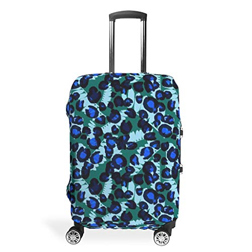 Lind88 Leopard Travel Suitcase Cover - Sexy Durable Multi Size Suit for Many Baggage White l(26-28 inch)