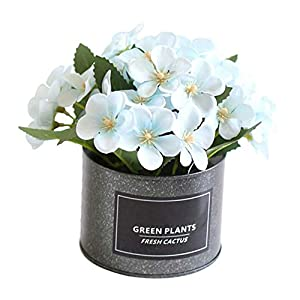Best Artificial Flowers for a Wedding Arrangement New 1pc Potted Begonia Artificial Flower Iron Pot Bonsai Home Office Garden Decor Artificial Green Leave Plant Decoration Fake Peony Silk Hydrangea Bo
