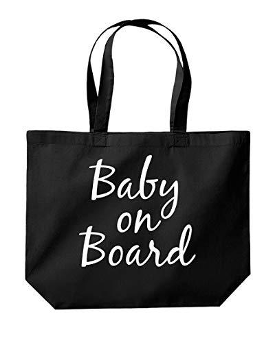 Baby On Board Einkaufstasche, zum Muttertag, 39 x 35 x 13,5 cm, 18 Liter