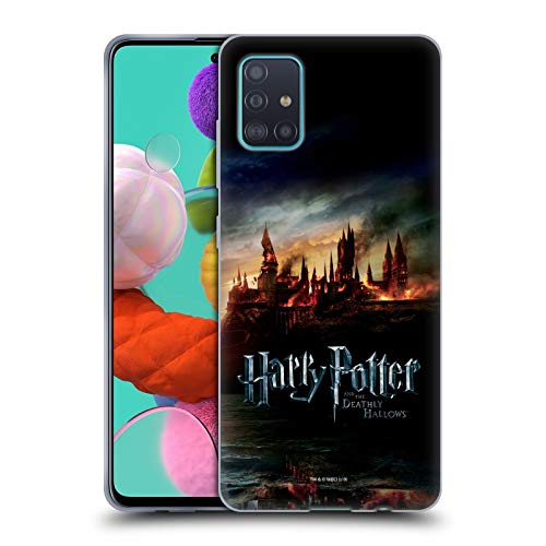 Head Case Designs Licenza Ufficiale Harry Potter Castello Deathly Hallows VIII Cover in Morbido Gel Compatibile con Samsung Galaxy A51 (2019)