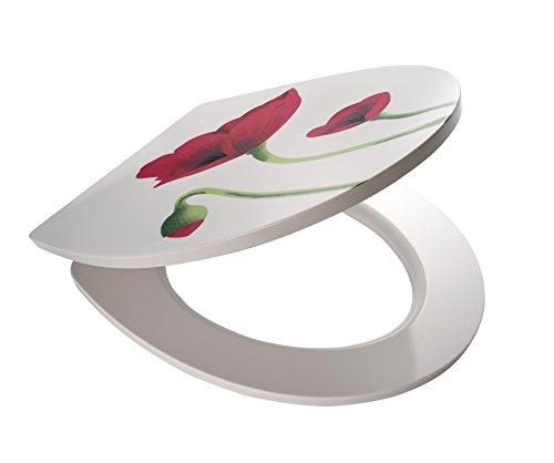RIDDER 02212100 Abattant de WC, Plastique thermodurcissable, Rouge/Blanc/Vert, 45,7 x 39 x 5,2 cm