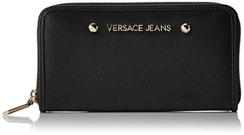 Versace Jeans Couture Damen Wallet portemonnaie, Schwarz (Nero), 2x10,5x19 centimeters