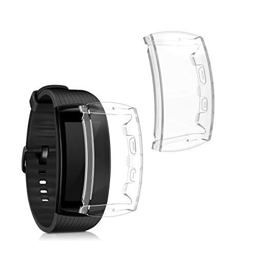 kwmobile 2 Carcasas para Pulsera Actividad - Set de 2X Funda Compatible con Samsung Gear Fit 2 Pro - Transparente
