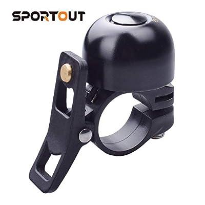 Sportout Copper Alloy Bike Bell, Classic Bicycle Bell, Loud Sound Bike Ring for Road Bike, Mountain Bike, City Bike, Sports Bike, Cruiser Bike, BMX Bike