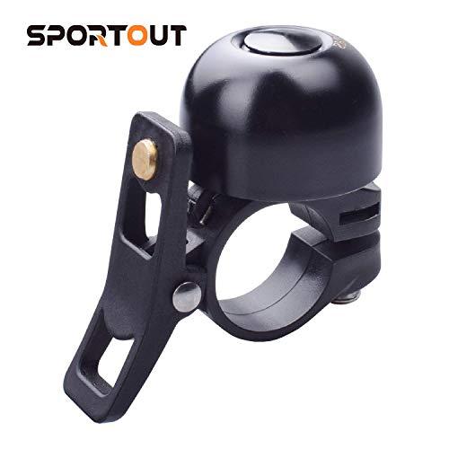 Sportout Copper Alloy Bike Bell, Classic Bicycle Bell, Loud Sound Bike Ring for Road Bike, Mountain Bike, City Bike, Sports Bike, Kid's Bike, Cruiser Bike, BMX Bike
