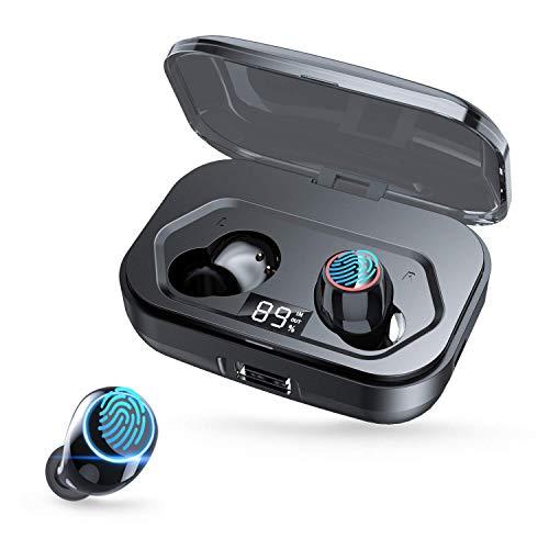 Bluetooth Kopfhörer in Ear, 5.0 Kopfhörer Kabellos für Sport mit Mikrofon,IPX7 Wasserdicht 140H Spielzeit Bluetooth Kopfhörer mit CVC8.0 Rauschunterdrückung und 3500mAh Kann das Handy Aufladen