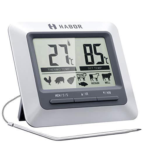Habor Thermomètre Cuisine Grand Ecran LCD,...