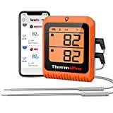 ThermoPro 500ft Long Range Bluetooth Meat Thermometer Wireless Grill Thermometer with Dual Probe Smart Rechargeable BBQ Thermometer for Grilling and Smoking