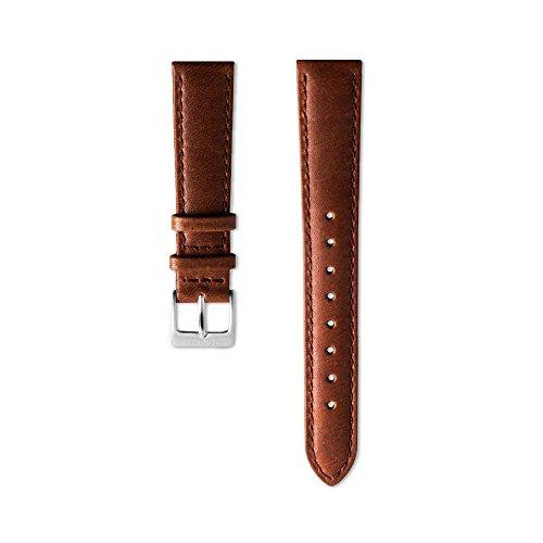 Nordgreen Lederarmband Braun für 36mm Uhren Silber