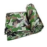 Camuflaje Lona Impermeable de Tela Impermeable Tienda de campaña Cubierta de Lonas con Ojales 450 g/m² R/20/02/06 (Size : 6X8M)