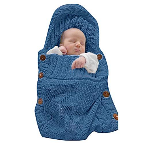 Baby Swaddle Blankets Ultra Soft Newborn Blankets Wrap Receiving Blankets Bag Unisex Baby Shower Presents Blue 06m