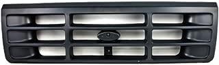 CarPartsDepot 400-18125, Grill Grille Dark Argent Gray Bar Plastic FO1200323 F6TZ8200AAA
