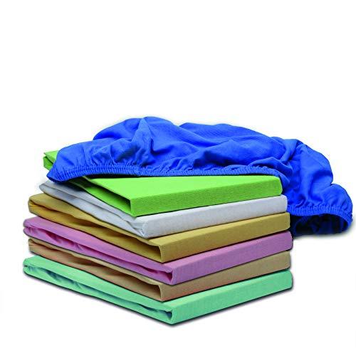 Hometex Premium Textiles Kinder Jersey Spannbettlaken Spannbetttuch | Baby Bett Bettlaken aus Jersey 100% Baumwolle 145g/m² | ÖKO-TEX Standard 100 | 60 x 120 cm bis 70 x 140 cm in Creme