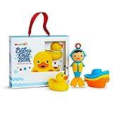 Munchkin - Juego de 3 juguetes de baño para el primer baño del bebé