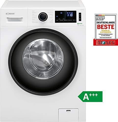Bomann Waschmaschine WA 7190/9 kg Fassungsvermögen / 16 Waschprogramme / 1400 U/min/LED-Display