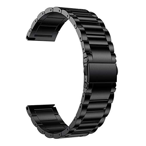 FANFAN 45mm 46m Band, 22mm Titanium Metal Watch Strap Bracelet Black